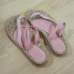 OTZ | Pink Comfort Walking Sandal Cork Shoe 38